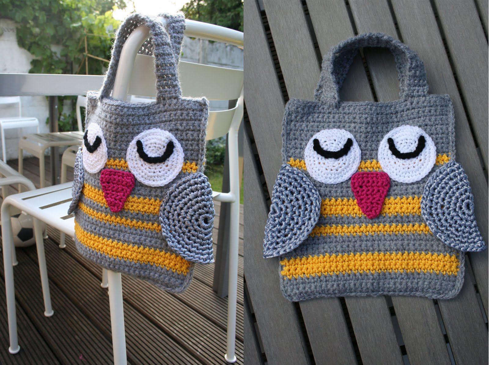 Uilen Tasje Haken Crochet Crochet Owls En Owl Bags