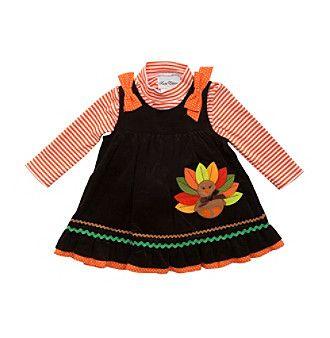4b9f6938395 Rare Editions® Baby Girls  Turkey Jumper Set