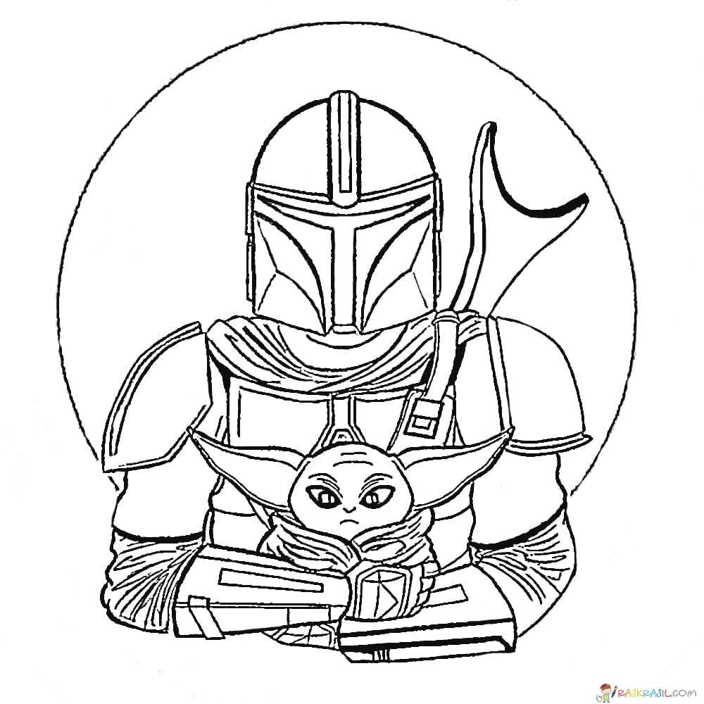 Coloring Pages Baby Yoda The Mandalorian And Baby Yoda Free Star Wars Coloring Book Star Wars Coloring Sheet Coloring Pages