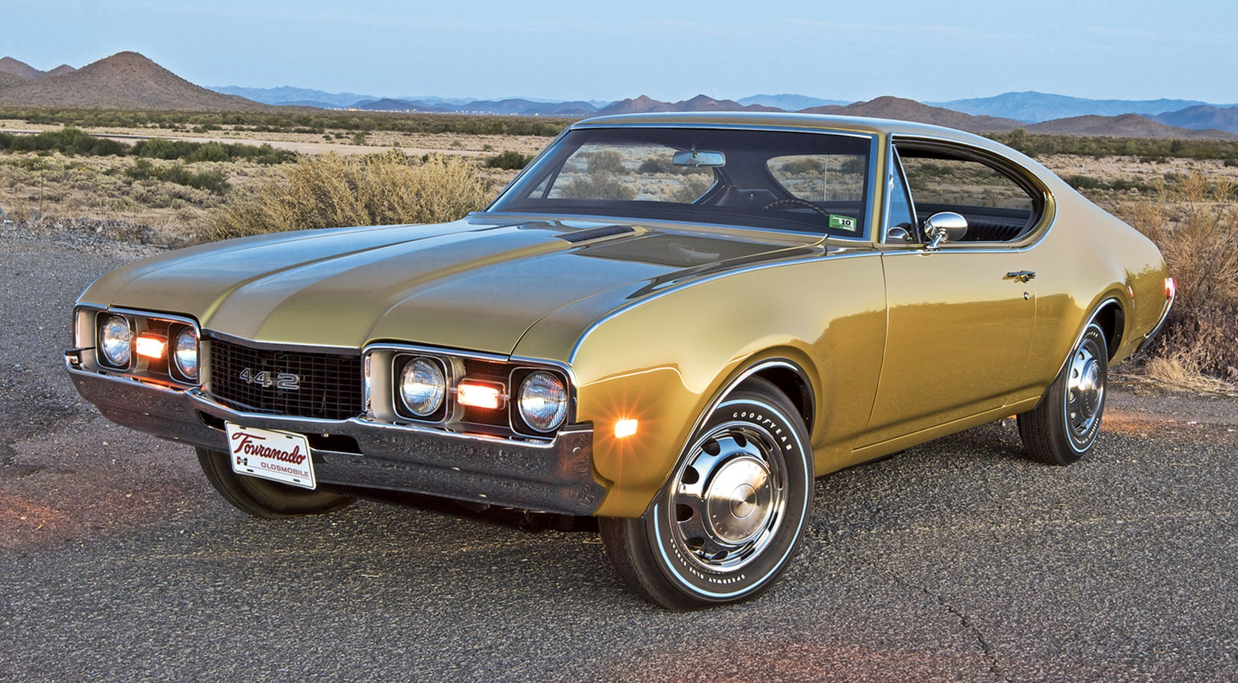 1968 Oldsmobile 442, has a plate on the front which says Tornado and the way it sits and the wheels on it make it look like it could have a Tornado drivetrain.  Not sure why anyone would do that to a 442, certainly wouldn't improve it's performance, handling or value....