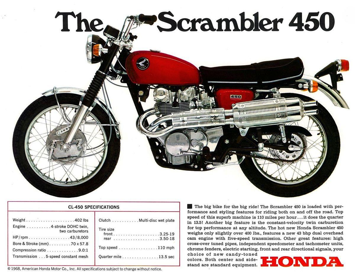 1969 Honda Scrambler 450cc Honda Scrambler Vintage Honda Motorcycles Honda [ 931 x 1200 Pixel ]