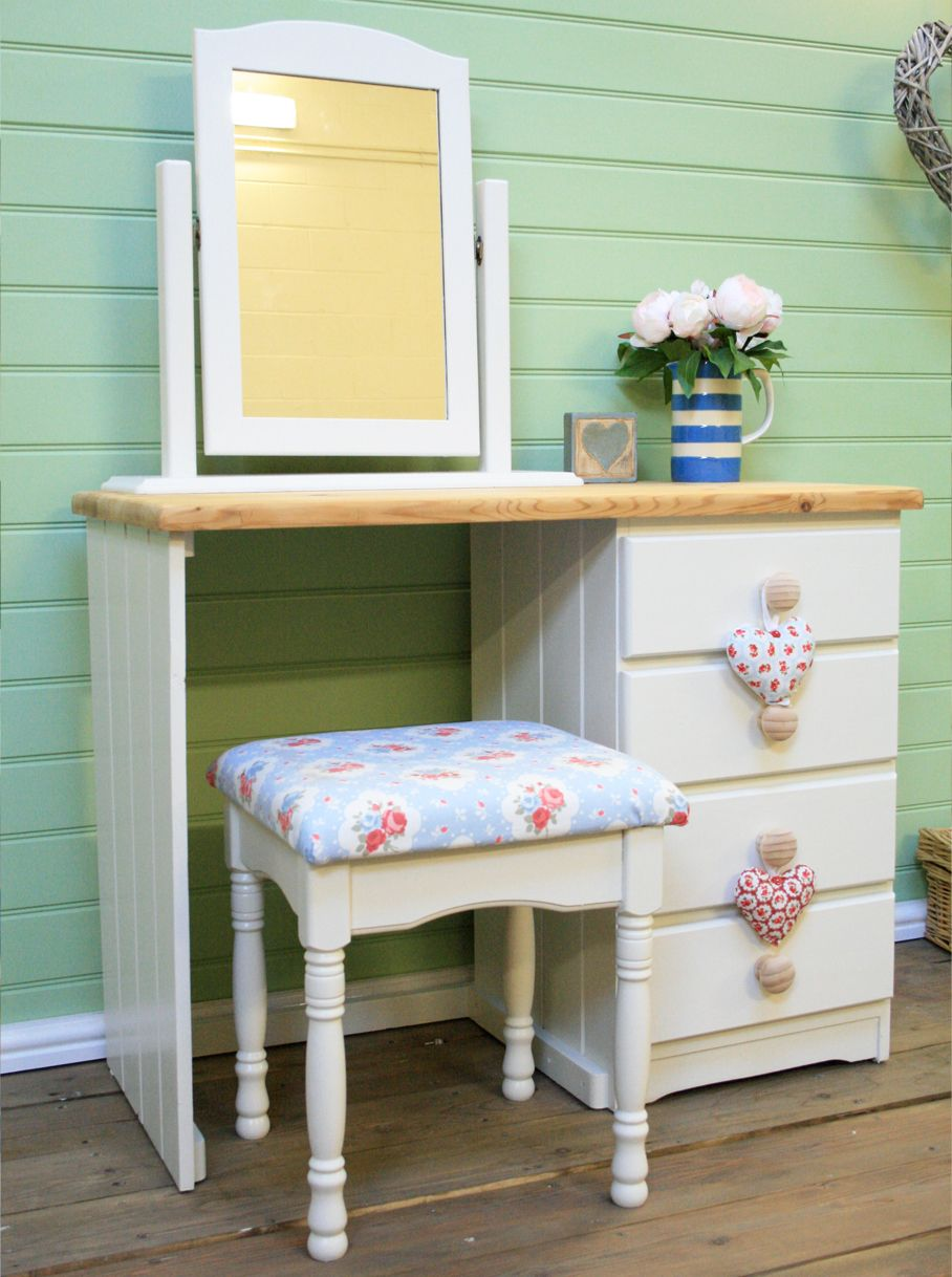 Shabby Chic Farmhouse Dressing Table Painted In Farrow Ball Slipper Sat