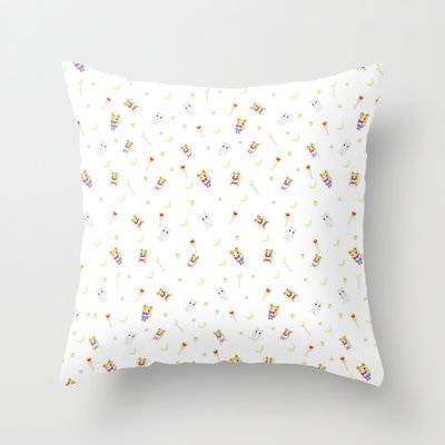 Chibi Sailor Moon Print Throw Pillow by Mary HB Nguyen - $20.00