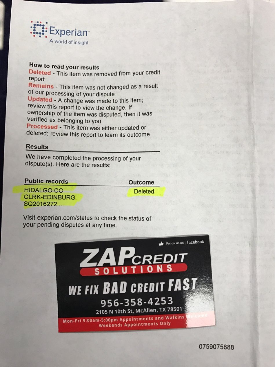 Awesome Zap Credit solutions