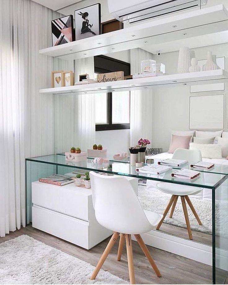 Escrivaninha com espelho - #arbeitsplatz #Escrivaninha #espelho #spacedrawings