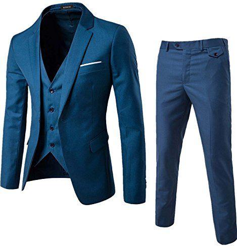 WULFUL Mens 3pc Paisley Vest Necktie Pocket Square Set for Suit or Tuxedo