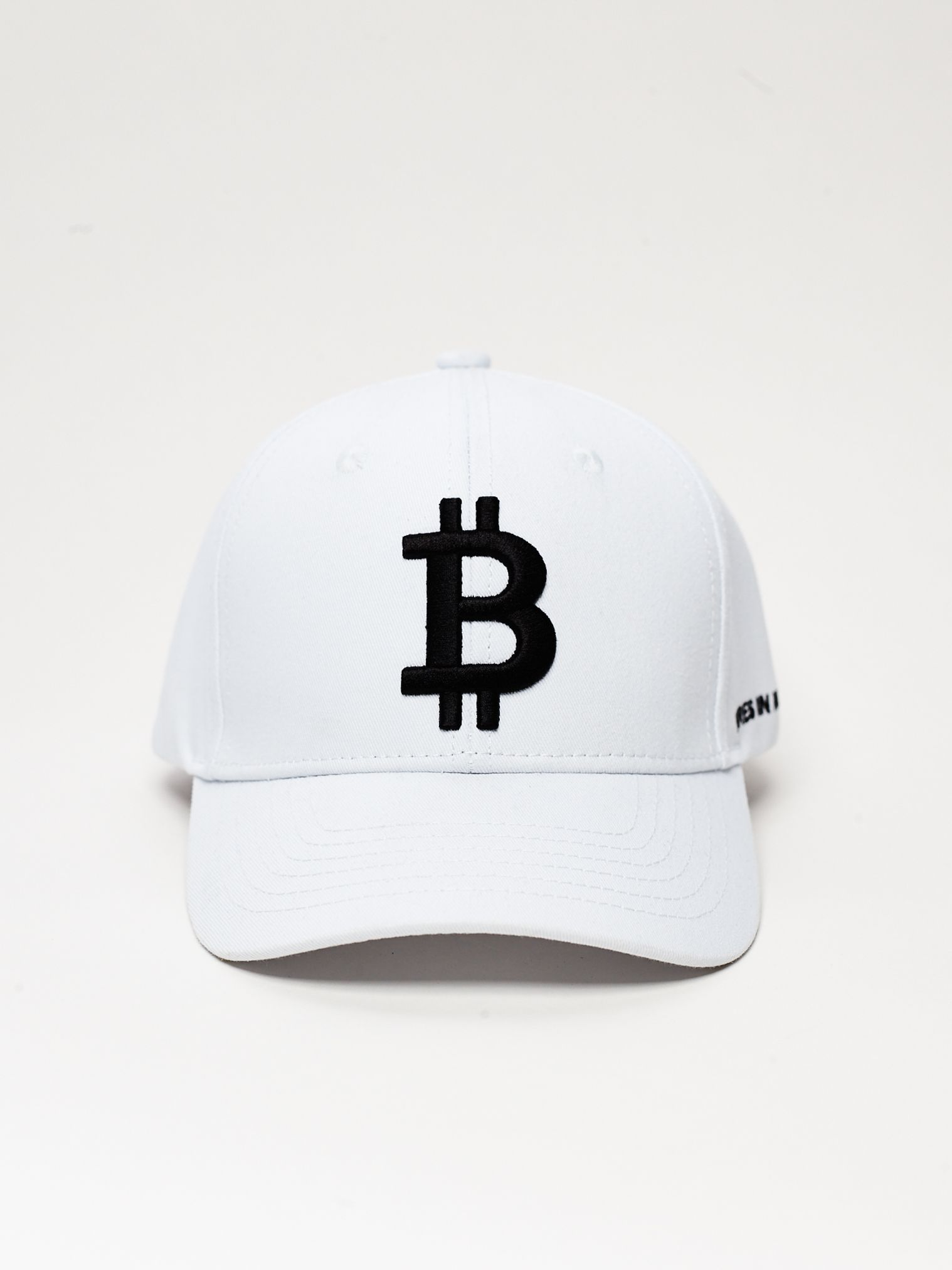 Designer Bitcoin Hat In White By Merch Ix Crypto Hat Bitcoin Hats Cryptocurrency Caps Classic Accessory White Hat Cap Collection