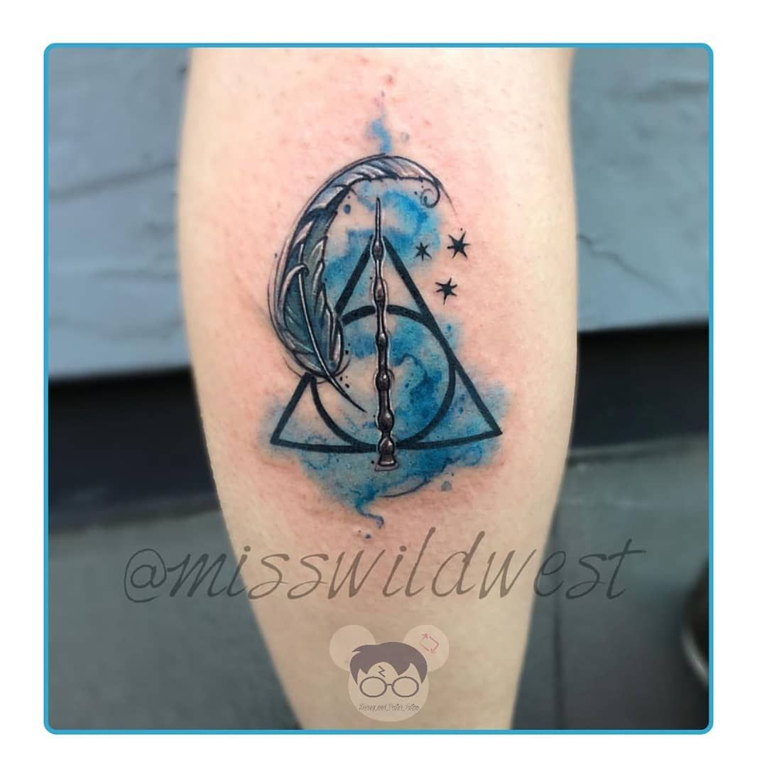 Awesome Little Ravenclaw Themed Tattoo This By Misswildwest Harrypottertattoo Harrypotter Tattoo Death Harry Potter Tattoos Harry Tattoos Ravenclaw Tattoo