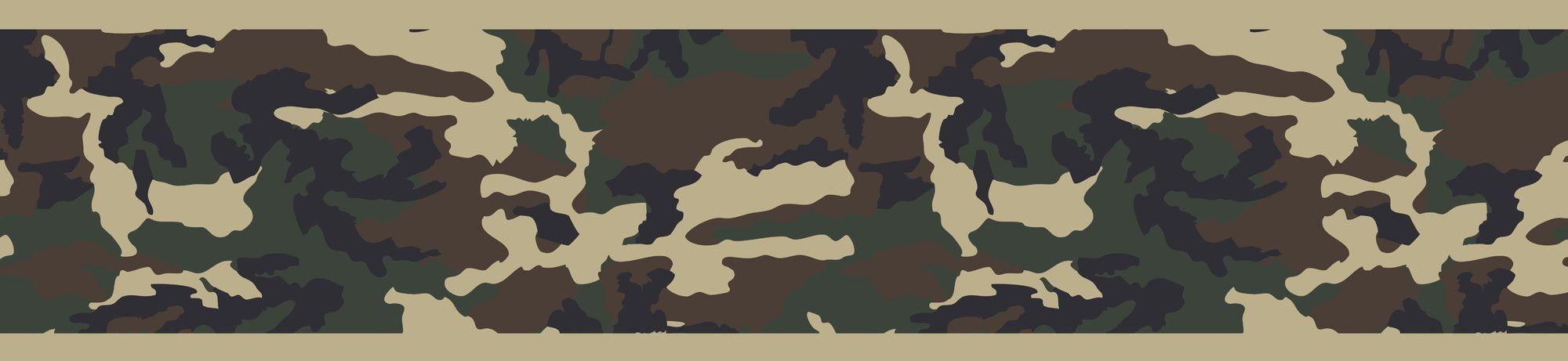 """Camo 15' x 6"""" Abstract Border Wallpaper"""