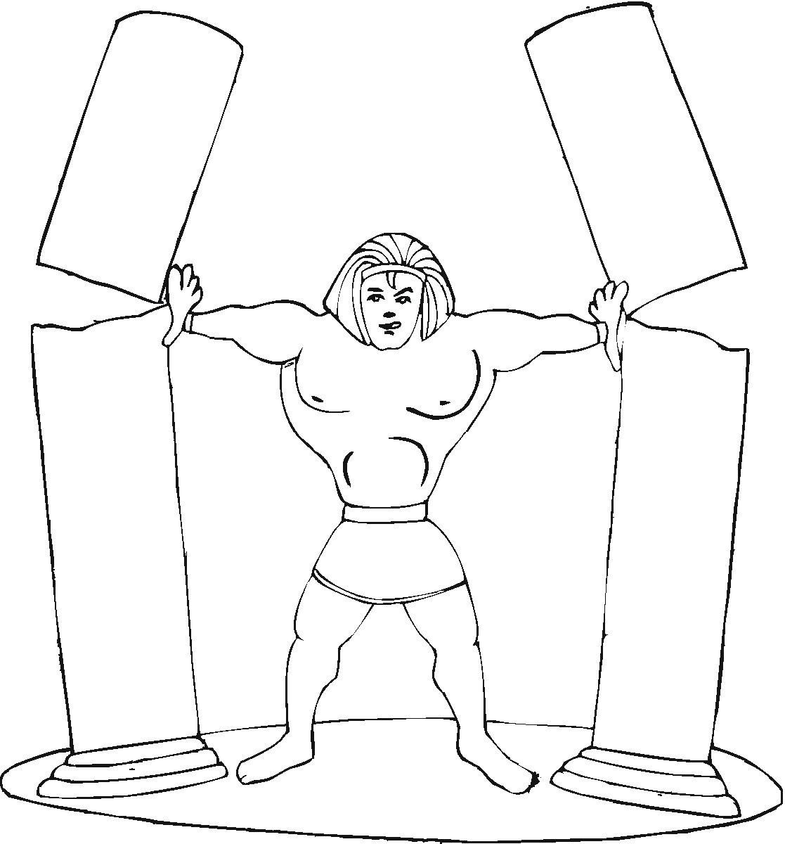 Samson Coloring Page Bible Coloring Pages Bible Drawing Bible Coloring
