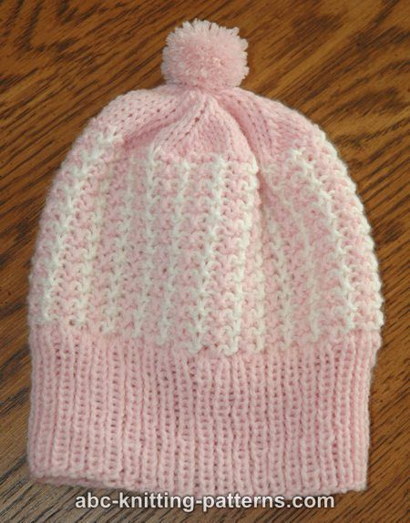 ABC Knitting Patterns - Two-Color Baby Hat . | şapka | Pinterest ...