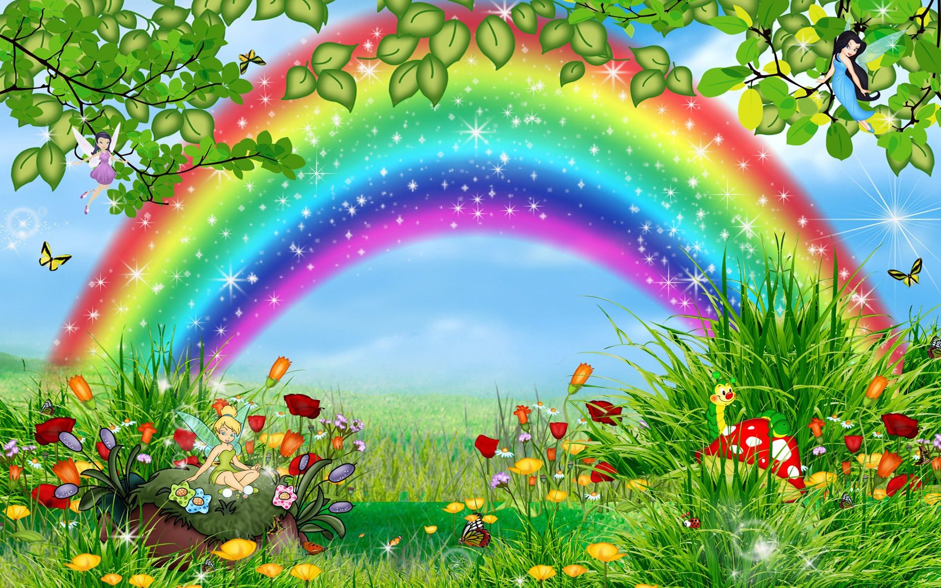 Click Here For More Rainbows Rainbow Appears In The Sky At The End Of The Rain Description From Newtopwallp Rainbow Wallpaper Rainbow Art Beautiful Wallpapers