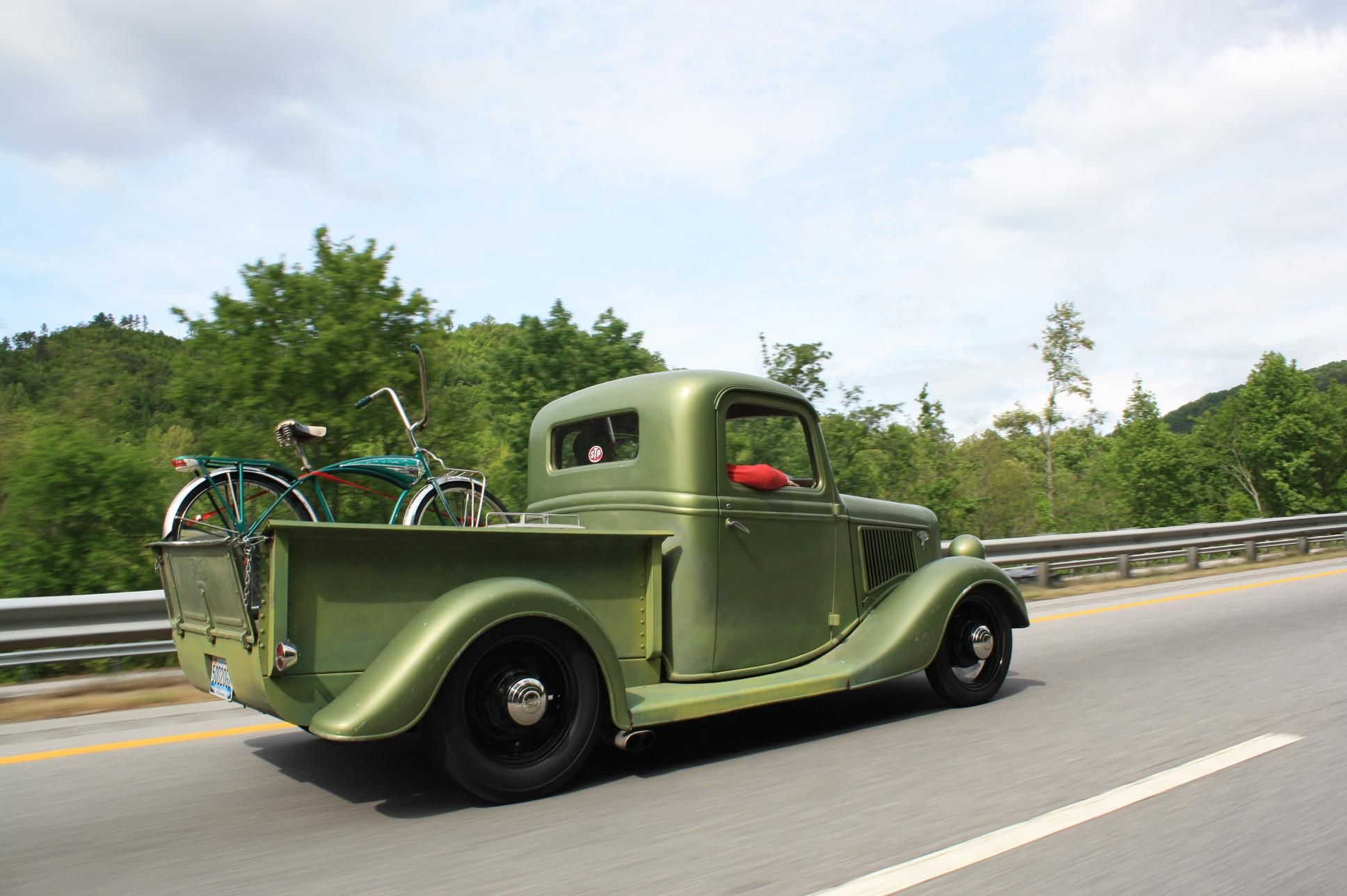 30s Ford pickup hotrod traditional hotrod with a vintage bicycle ...