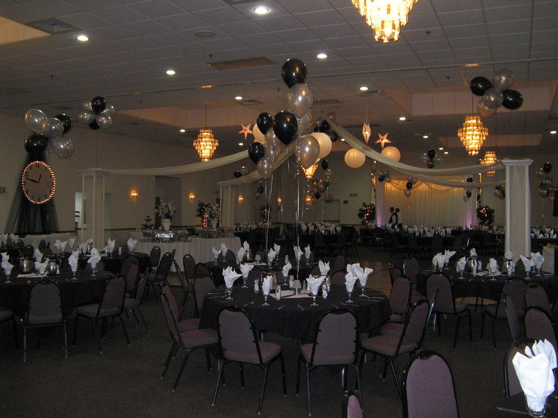 Formal dance decoration ideas on pinterest prom themes unique prom themes and prom - Black silver and white party decorations ...