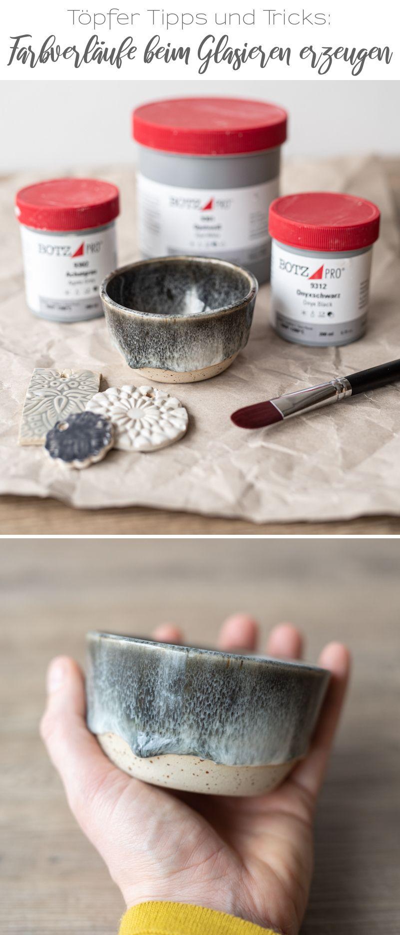 Mein Töpfertagebuch (9): Tipps für Farbverläufe beim Glasieren - Leelah Loves