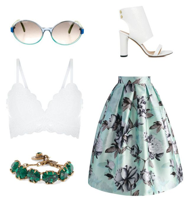 """""""Summers Day"""" by hxlly1904 ❤ liked on Polyvore featuring IRO, Chicwish, New Look, Marni, Gucci, Summer, croptop and floralprint"""