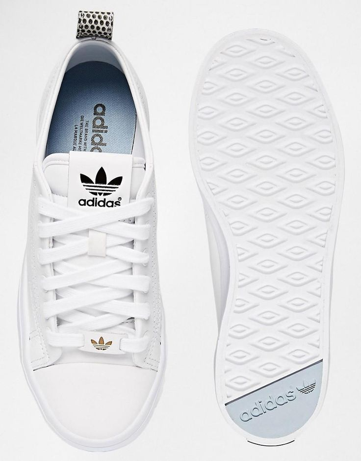 ladies white adidas trainers