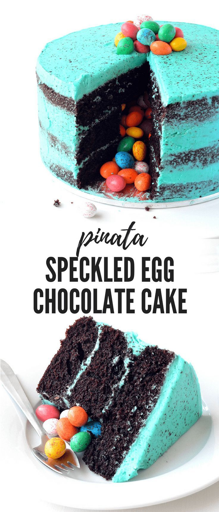 Photo of Speckled Egg Chocolate Pinata Cake