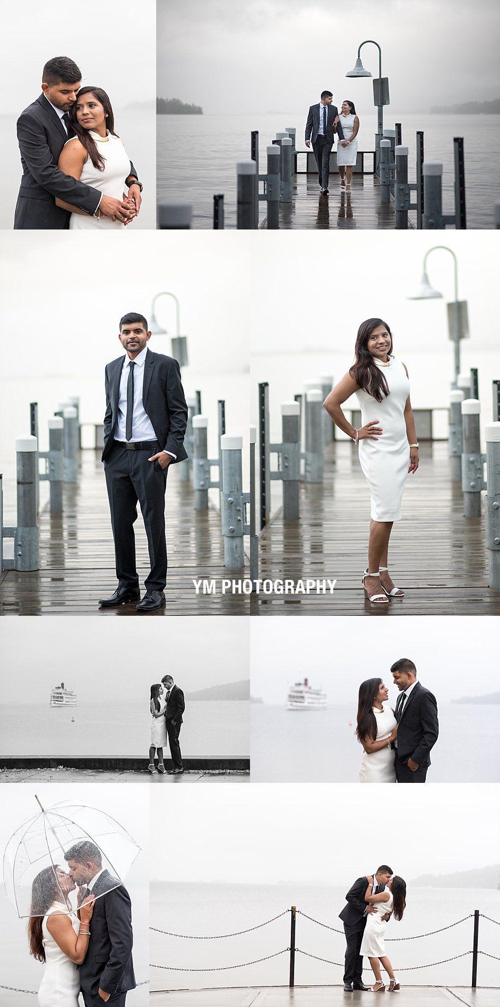 Rainy day engagement session by adirondack wedding