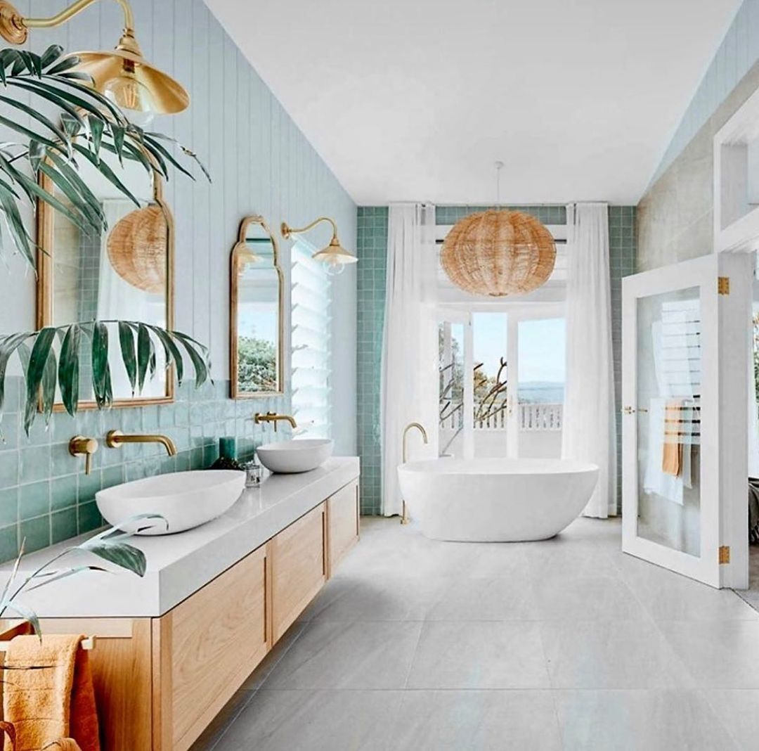 Coastal Interior Design On Instagram It May Not Be Holiday But I Couldn T Wait Another Day Not Sharing In 2021 Bathroom Interior Bathroom Design Amazing Bathrooms