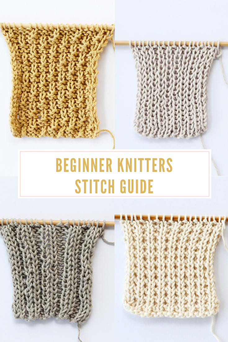 The beginner knitters stitch guide