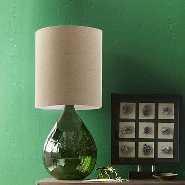 Glass Jug Table Lamp Green Westelm Mandy Mccaskill We Need This Dining Room Contemporary Table Lamps Table Lamp Green Lamp