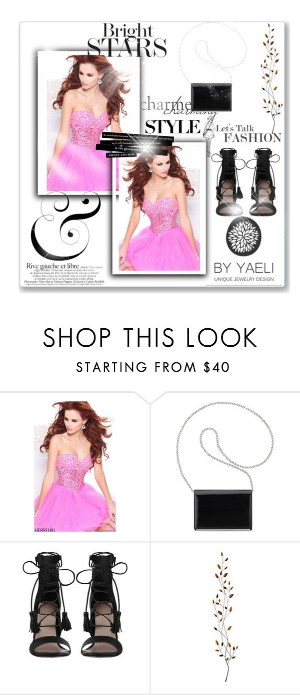"""""""Beaded Pink Sherri Hill 21101 Short Homecoming Dress"""" by tylerbowen ❤ liked on Polyvore featuring Sherri Hill, Nine West, Zimmermann, Pier 1 Imports, dress and Homecoming"""