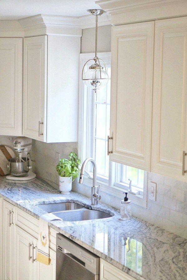 Viscon White Granite Transitional Kitchens Kitchen