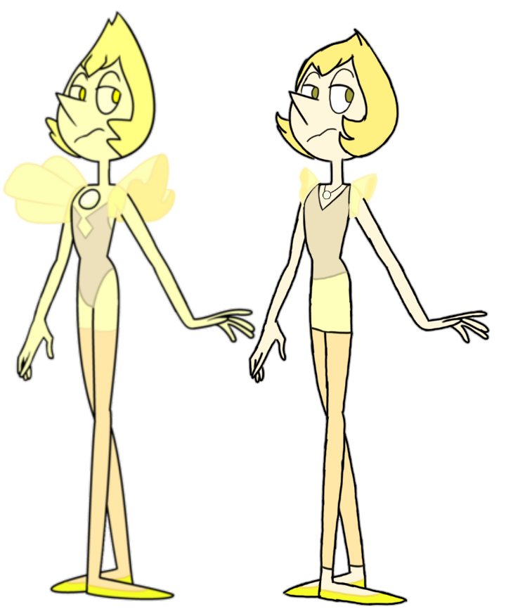 Yellow Pearl Human And Gem By Tsundra