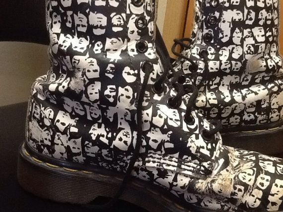 Vintage limited edition Doc Martens Andy Warhol design. SALE THROUGH 6/1 ONLY