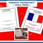 Hello, bonjour,  Here is a great French version of a Hall Pass made as a passport!  The document is printed in only one 8.5 x 11 sheet, but is divi...