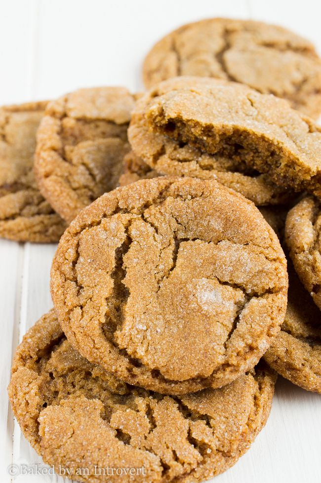 Chewy Gingersnap Cookies | Recipe | Ginger snap cookies ...