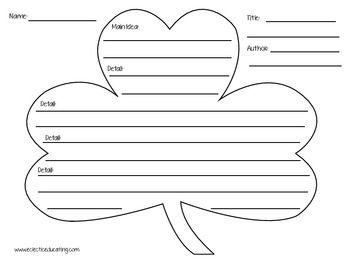 St. Patrick's Day Summary Graphic Organizers | Graphic ...