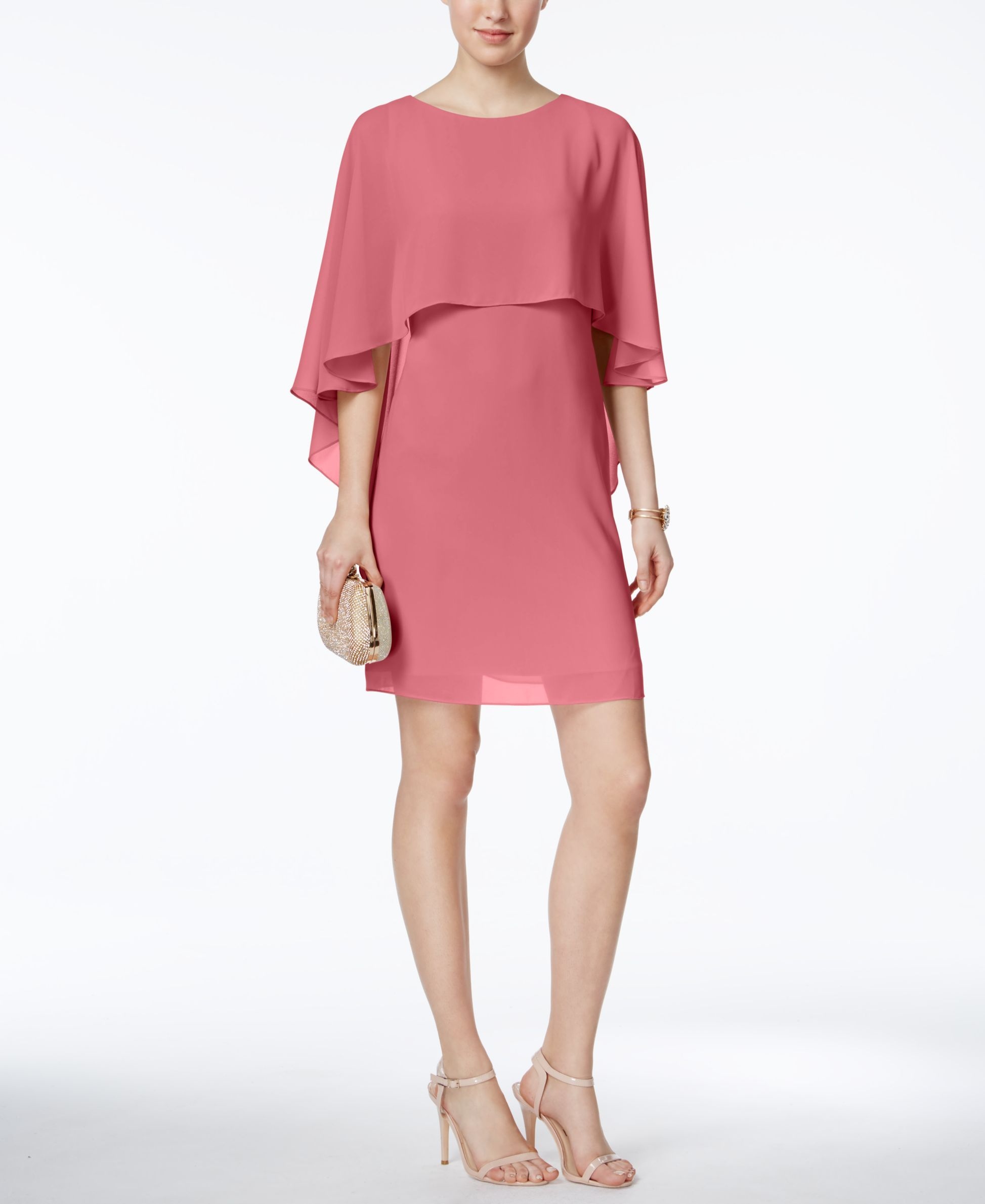 Shift dresses for wedding guests  Vince Camuto Capelet Shift Dress  Products  Pinterest  Capelet