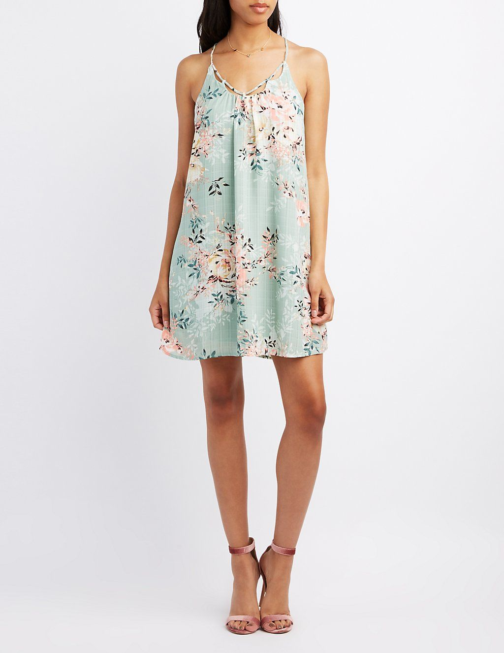 Floral Strappy Shift Dress | Charlotte Russe | My Style | Pinterest ...