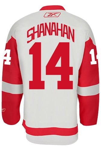 439b22012 Detroit Red Wings VINTAGE Brendan SHANAHAN  14  A  Official Away Reebok  Premier Replica NHL Hockey Jersey (HAND SEWN CUSTOMIZATION)