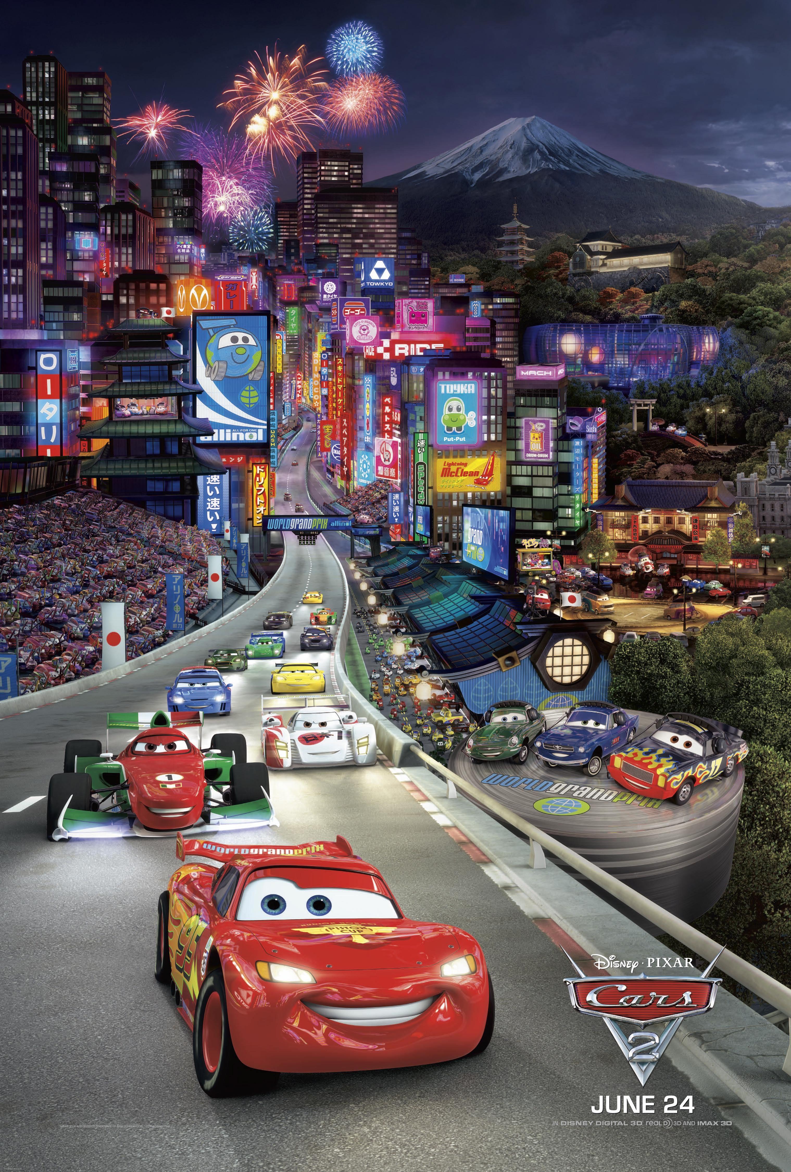cars tokyo travel posters pinterest tokyo pixar disney cars 2 movie poster type 3 8 1 x 11