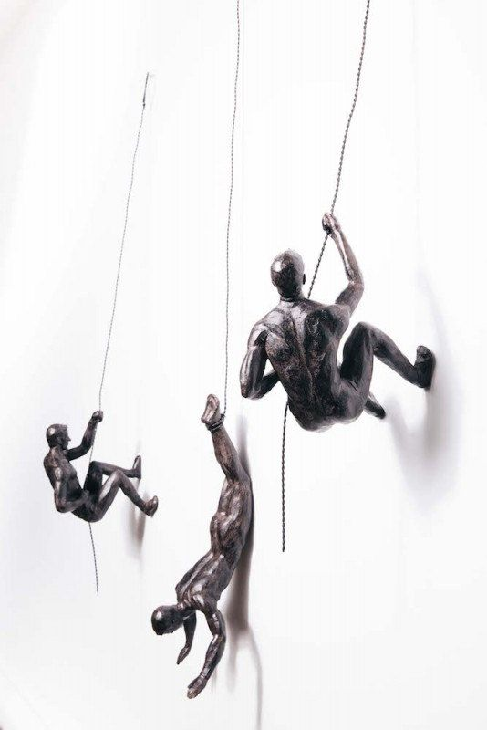 Trio Of Climbing Men Wall Art By Smithersofstamford On Etsy