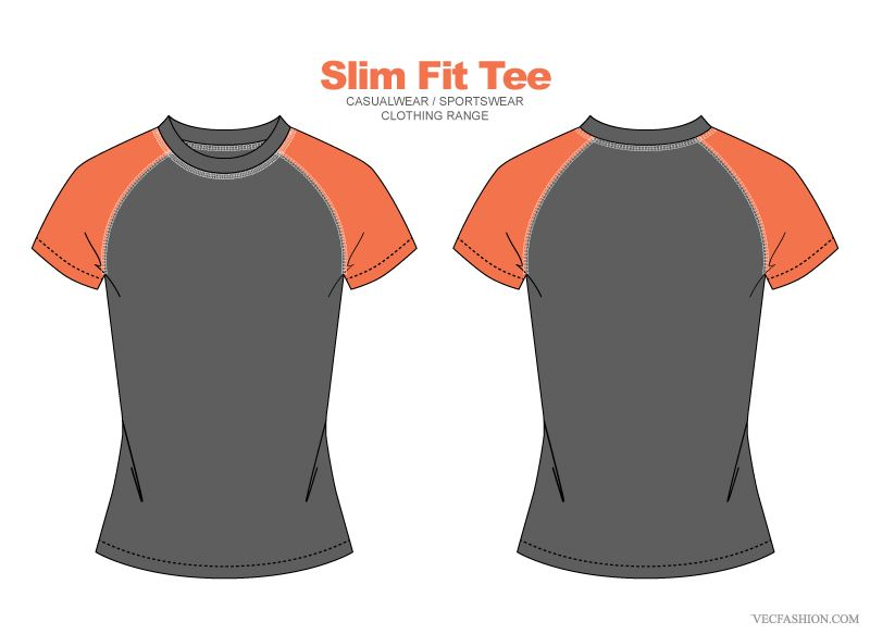 Women Slim Fit Tee Vector Clothing T By VecFashion On Creative Market