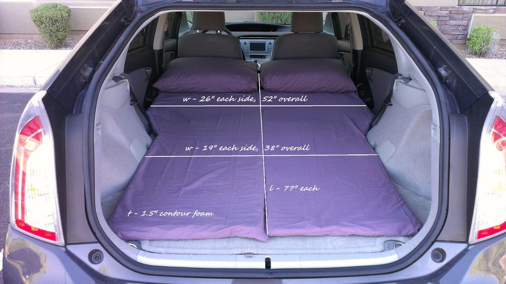 Sleep In A Prius Perfect For Long Trips One Person Can Drive And