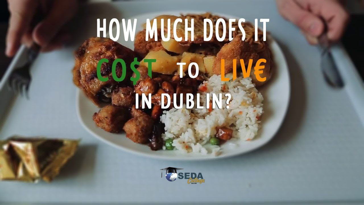 How much does it cost to live in dublin food spending