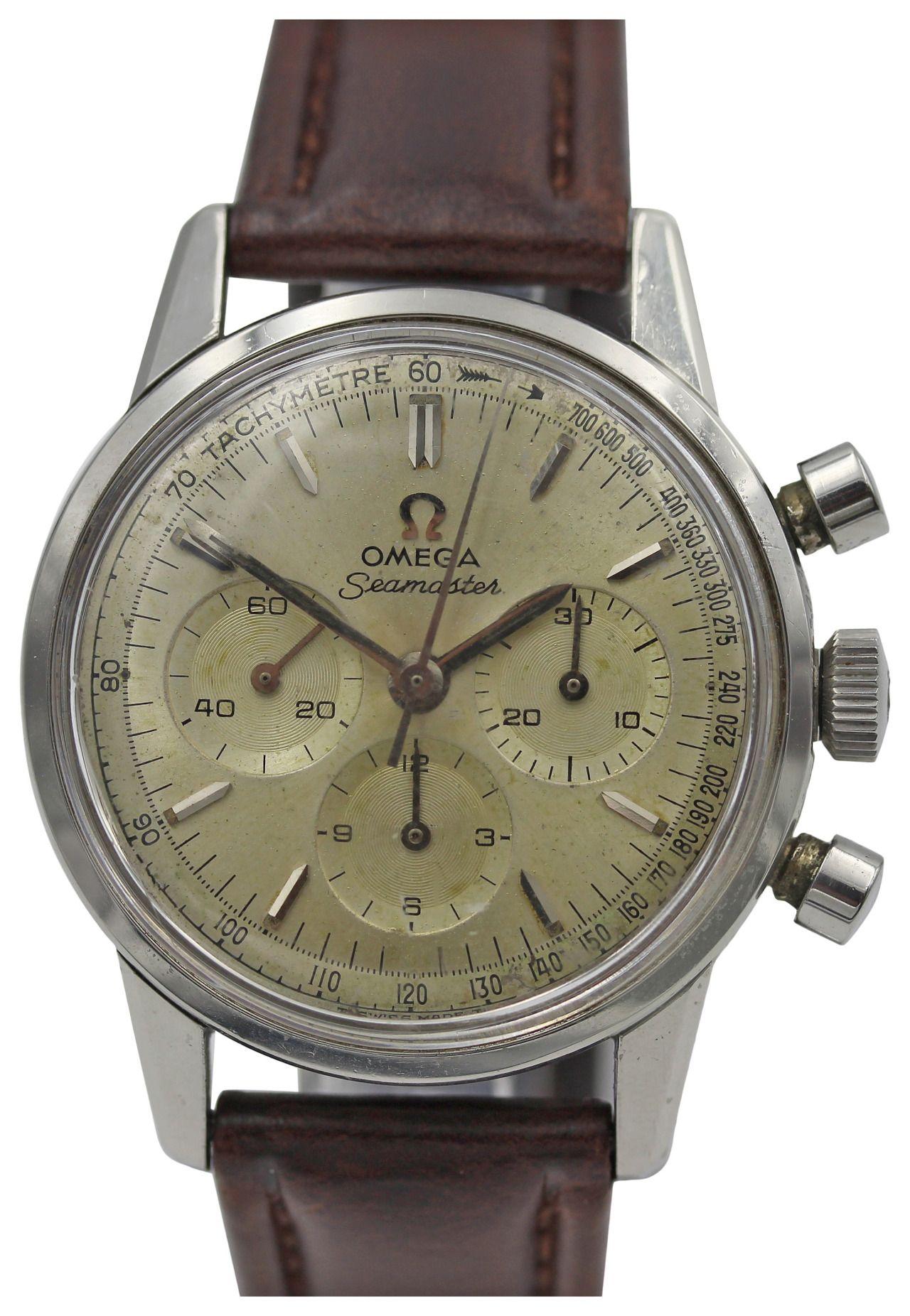 Chronograph Tachymetre Seamaster Omega Vintage Stainless mONnw80yv
