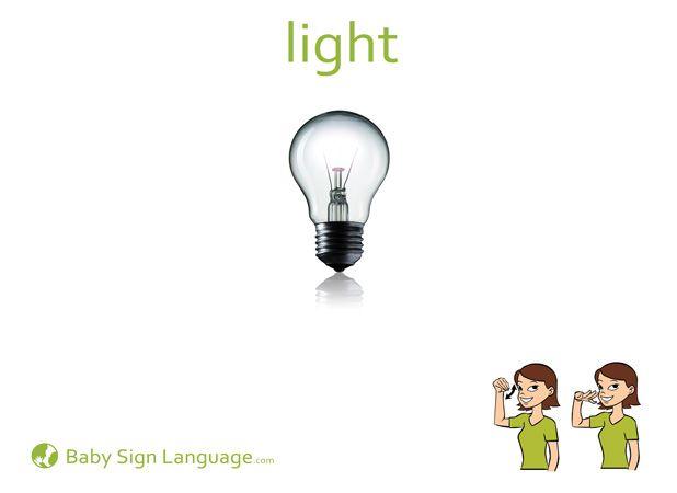 """Light"" Baby Sign Language Flash card"