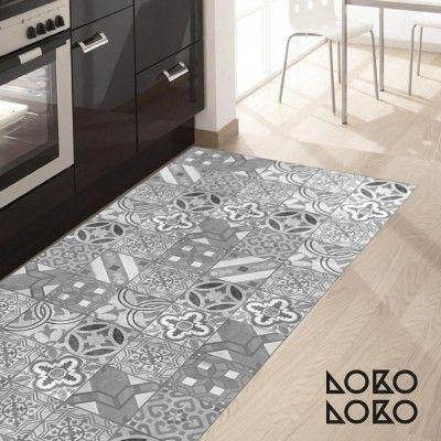 Vinilo adhesivo para decorar suelos de cocinas modernas - Baldosas suelo cocina ...