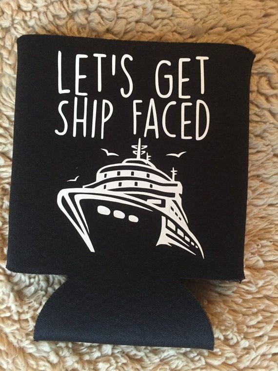 22ea5bbbe92 Bachelorette Party Koozies - Let's Get Ship Faced Koozies - Bachelorette  Party Gifts - Cruise Bachelorette Party - Spring Break Koozie
