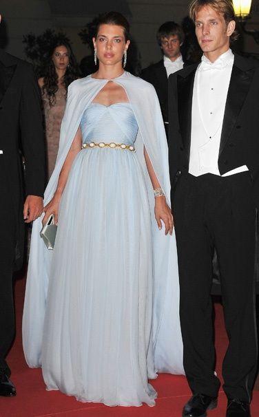 Charlotte Casiraghi in pale blue Giambattista Valli. | Best Dressed ...