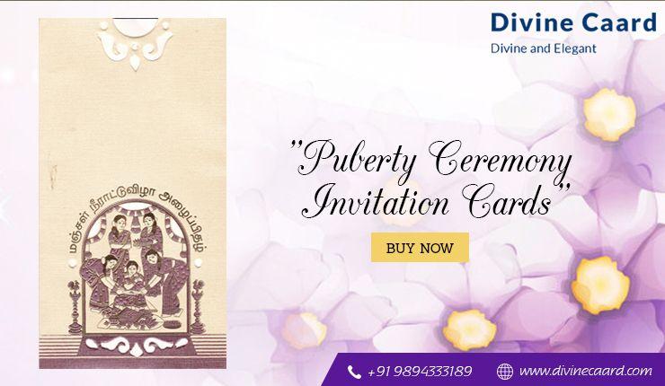 Buy Puberty Ceremony Invitation Cards Online  | Invitations