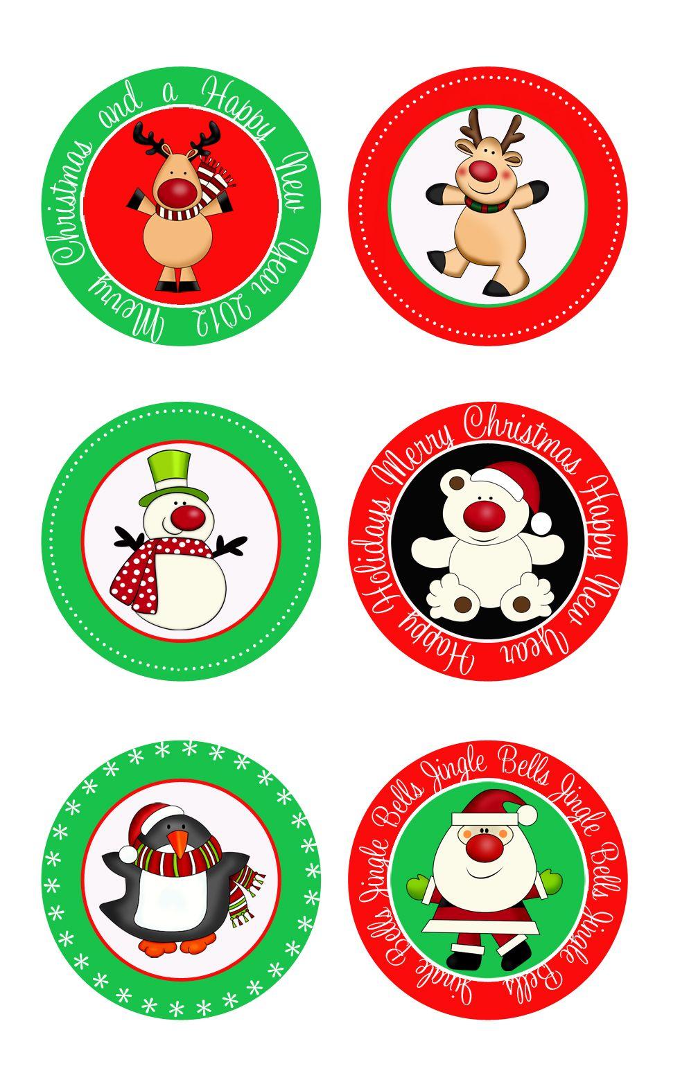 Christmas Cupcake Toppers.Free Printables Toppers Free Printable Christmas Cupcake