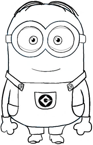 How to Draw Dave  one of the Minions from Despicable Me Drawing