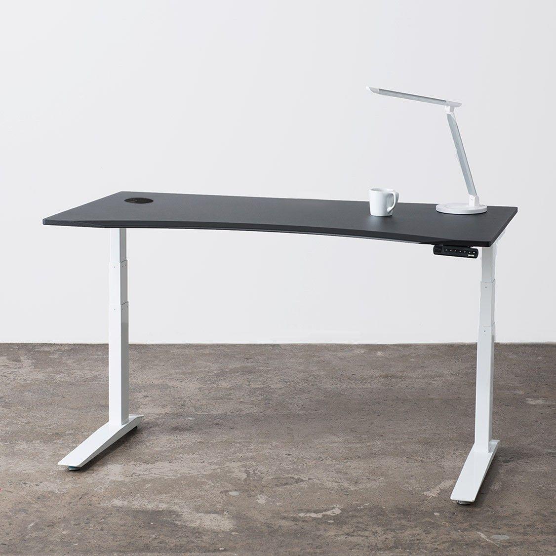 Favorite Jarvis Standing Desk Contour White Top Black Frame